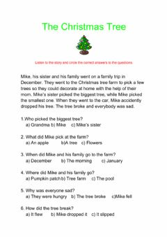 Interactive worksheet Wh questions - Christmas tree