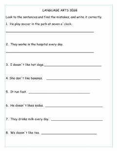 Interactive worksheet Correcting Mistakes.