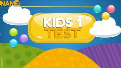 Interactive worksheet KIDS 1 - End of Year Test