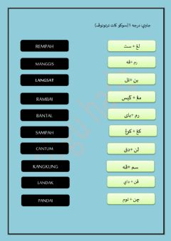 Interactive worksheet Jawi darjah 1( 18.11)