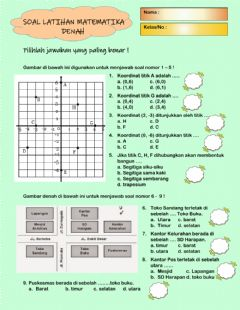 Interactive worksheet Latihan denah 2