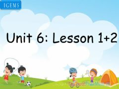 Interactive worksheet Unit 6-lesson1,2