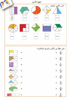 Interactive worksheet مفهوم الكسور