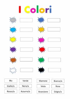 Interactive worksheet Colori in italiano