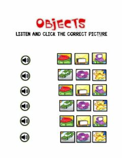 Interactive worksheet Objects