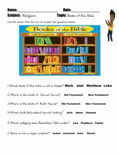 Interactive worksheet The Books of The Bible