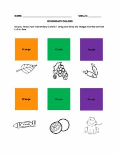 Interactive worksheet Secondary Colors (Revised)