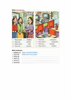 Interactive worksheet Some and any