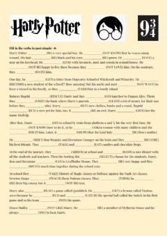 Interactive worksheet Harry Potter - Past Simple