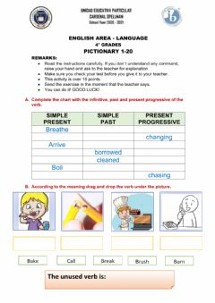 Interactive worksheet Pictionary 1-20