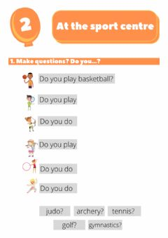 Interactive worksheet At the sport centre