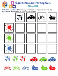Interactive worksheet Percepción 3-2