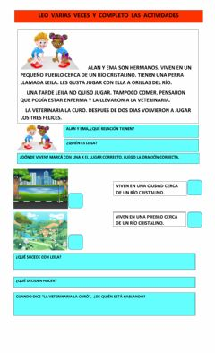 Interactive worksheet Leo y comprendo
