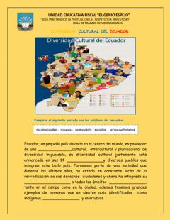Interactive worksheet Interculturalidad del Ecuador