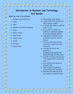 Interactive worksheet IBT IA3 Review (20-21)