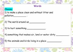 Interactive worksheet Words