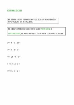 Interactive worksheet Espressioni