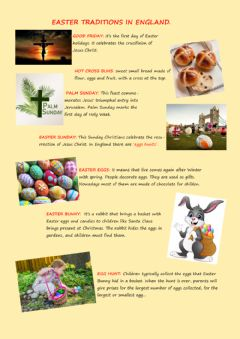 Ficha interactiva Easter Traditions