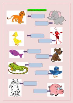 Ficha interactiva Animals and Colours part 2 Speaking