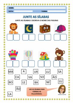 Interactive worksheet Junte as Sílabas