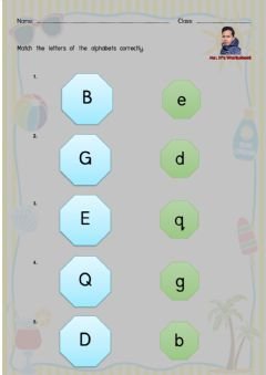 Ficha interactiva Letters of the Alphabets