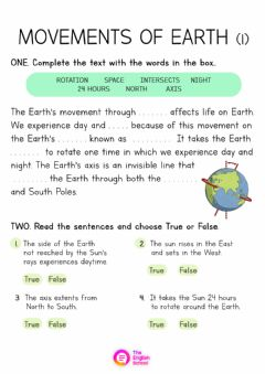 Interactive worksheet Earth's Rotation