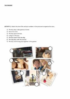 Interactive worksheet The Present short film