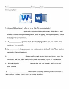 Interactive worksheet Types of documents in Word