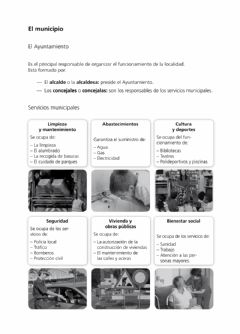 Interactive worksheet El municpio
