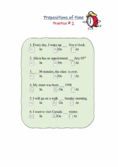 Ficha interactiva Prepositions of time