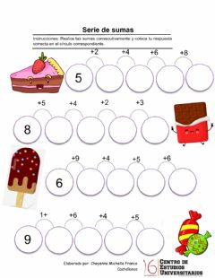 Interactive worksheet Serie de sumas