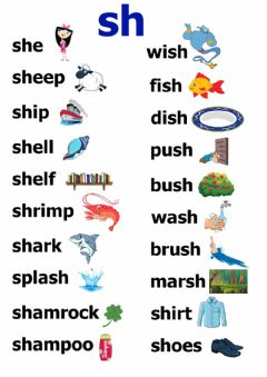 Interactive worksheet Phonics: sh
