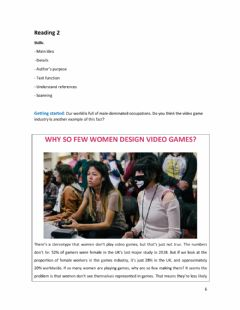 Interactive worksheet Women and Video Games