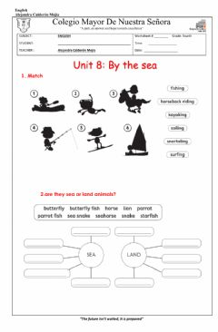 Interactive worksheet By the sea