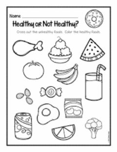 Interactive worksheet Healthy and Unhealthy Foods for children