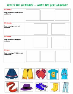 Interactive worksheet Weather - clothes