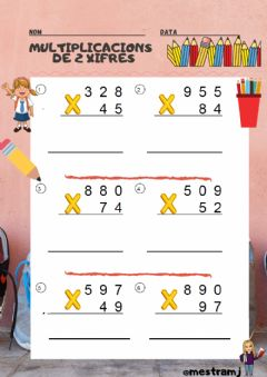 Interactive worksheet Multiplicacions de 2 xifres.2
