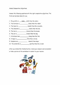 Interactive worksheet Animal Adjectives