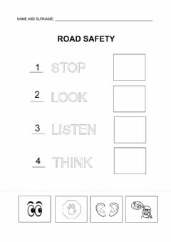 Interactive worksheet Road safety match