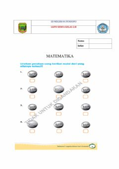 Interactive worksheet Lkpd matematika