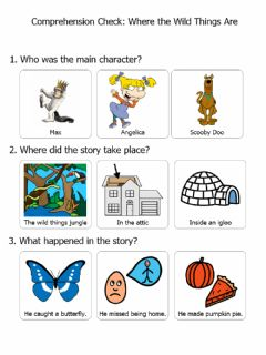 Interactive worksheet Where The Wild Things Are Comp Check