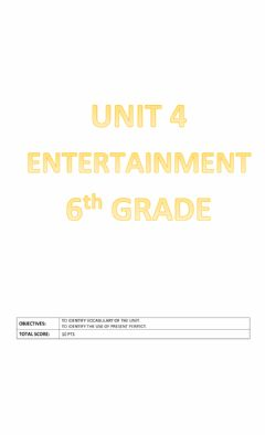 Interactive worksheet Unit 4: Entertainment