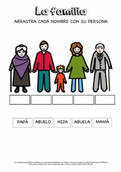 Interactive worksheet La familia