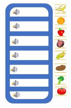 Ficha interactiva Fruits and vegetables