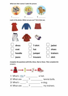 Interactive worksheet This-that