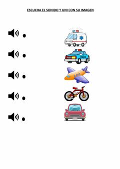 Interactive worksheet Sonidos de transportes
