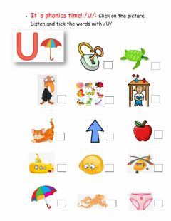 Interactive worksheet It-s phonics time - sound -u-