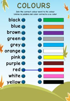 Ficha interactiva 2021 Starters Vocabulary A4 LW Colours 1