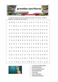 Interactive worksheet Grandes escritores