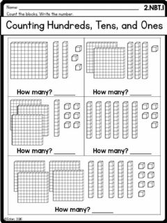 Interactive worksheet Ones, tens, hundreds